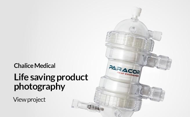 idea uk design photographer sheffield chalice medical product photography