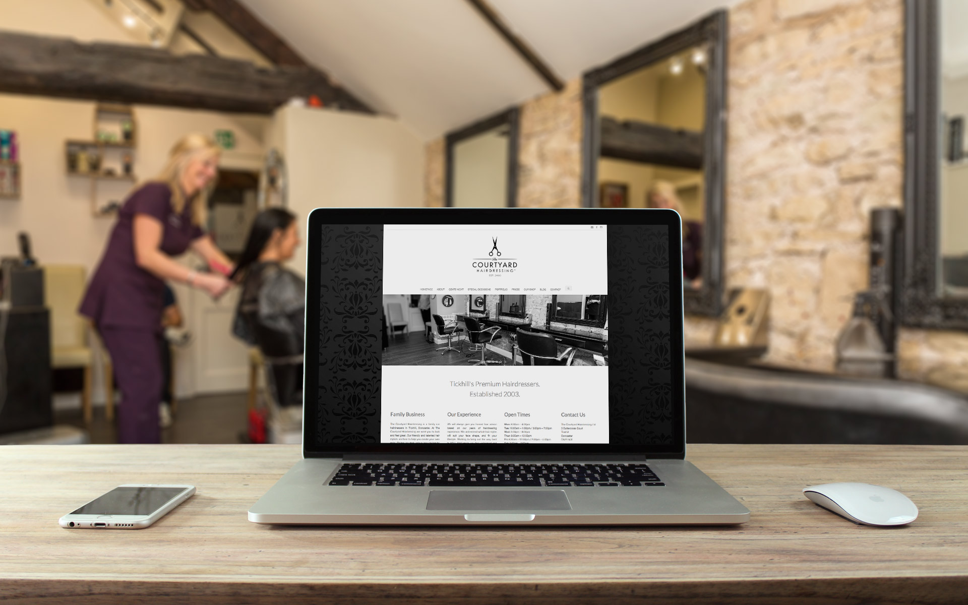courtyard hairdressing header website designer sheffield idea