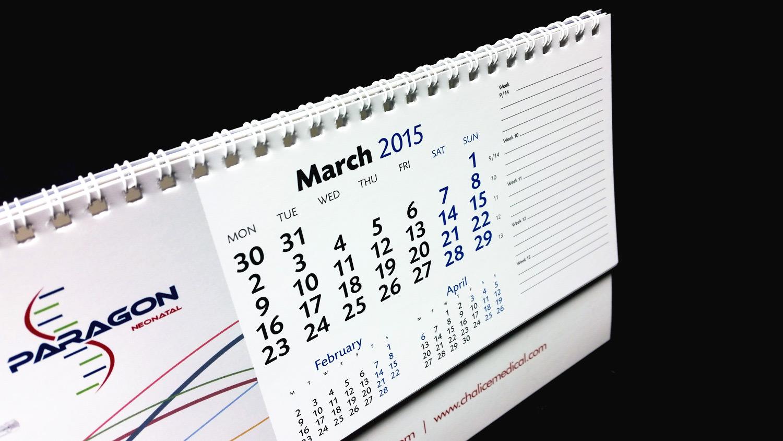Calendar Design Brief : Chalice medical printed desk calendars idea design