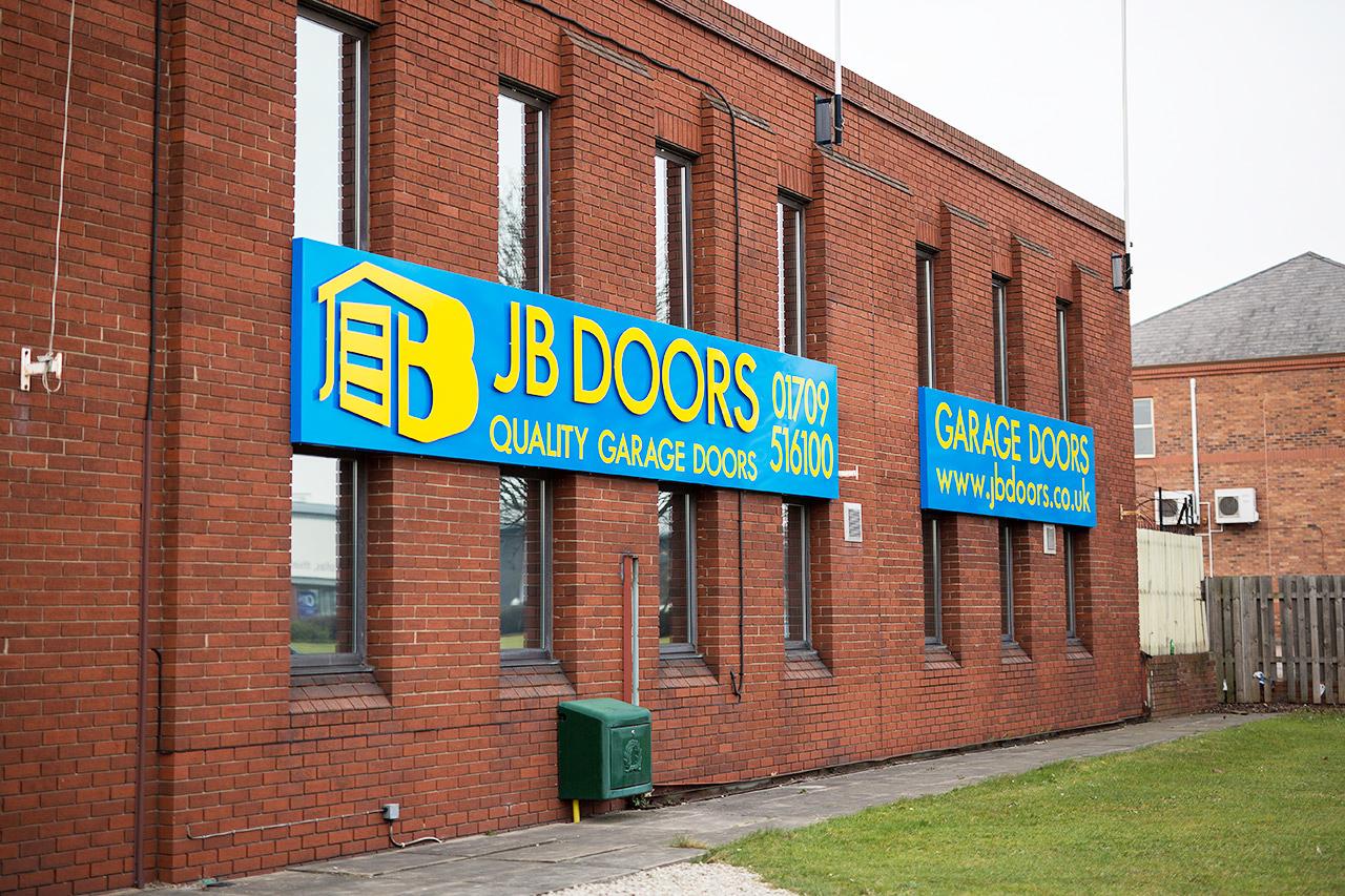 JB Doors Building Signage Rotherham, Sheffield IDEA UK