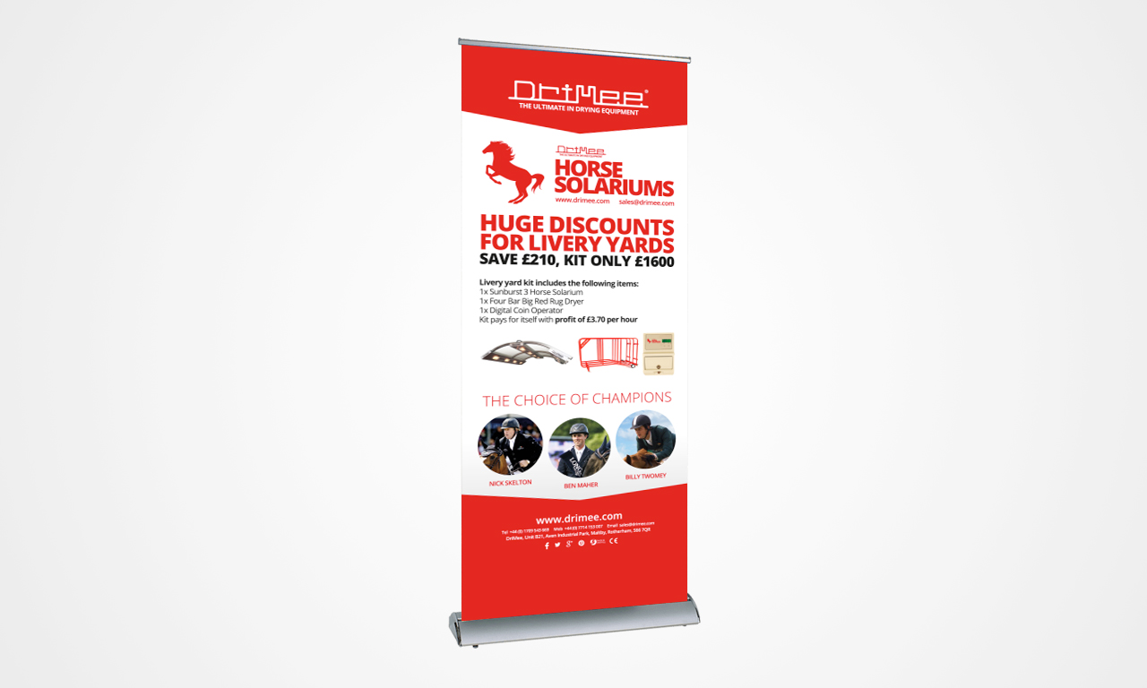 IDEA UK Design and Marketing Roller Banner Pull up Banner Drimee