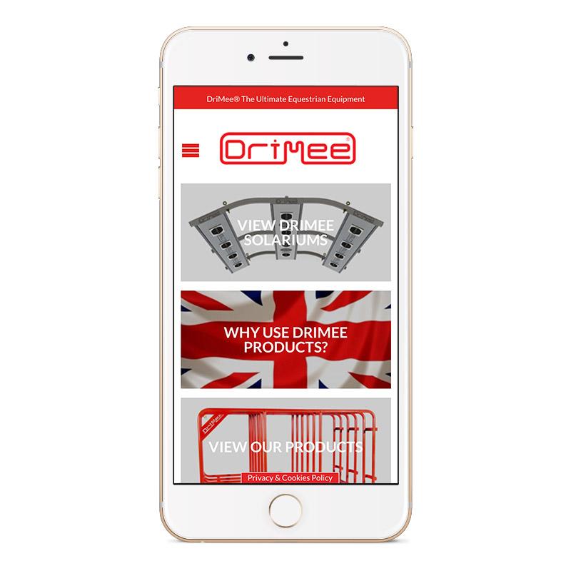 drimee ecommerce website designer sheffield idea iphone