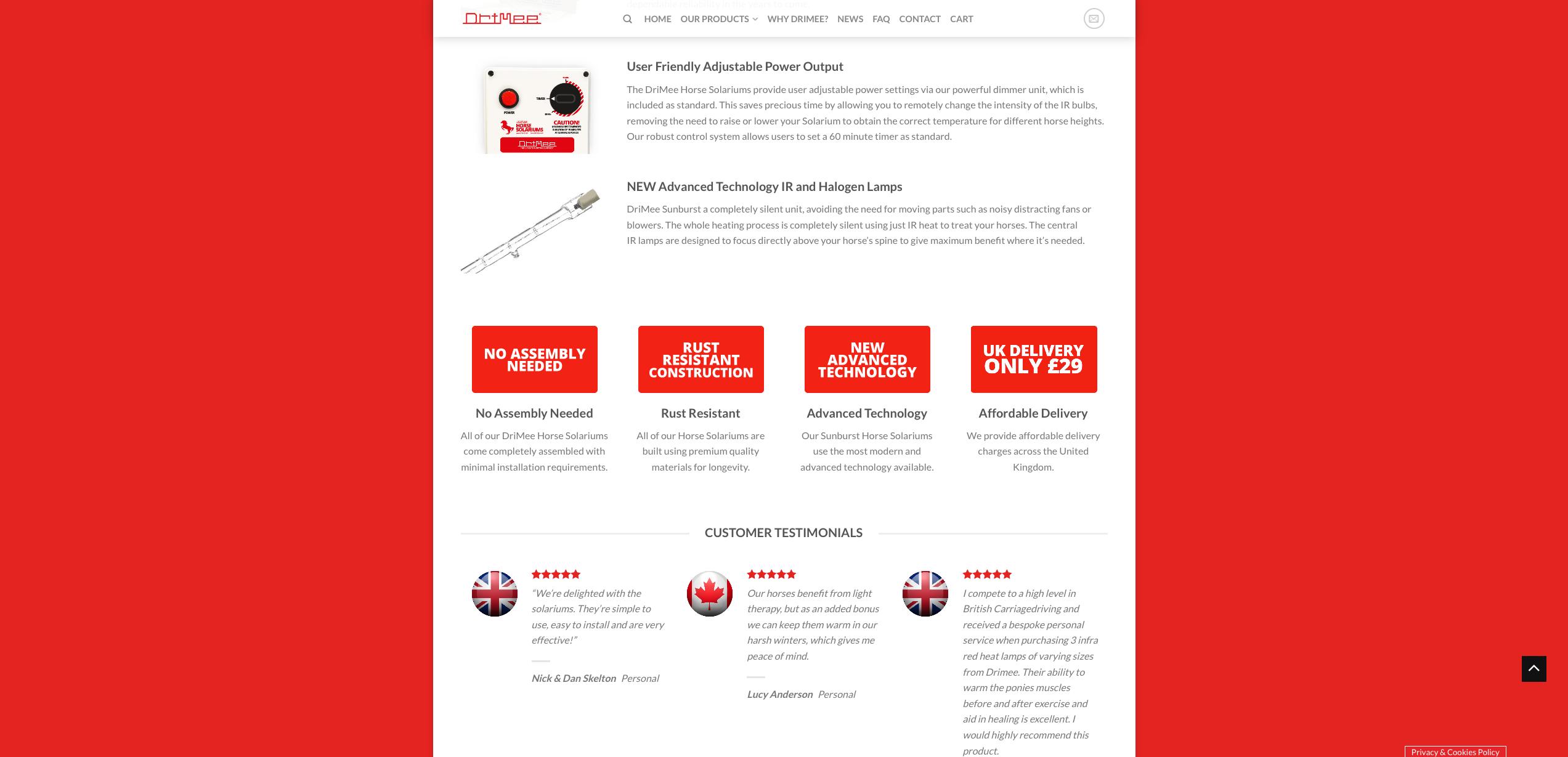 IDEA UK Design and Marketing Drimee Equestrian Horse Equipment Website Design 10