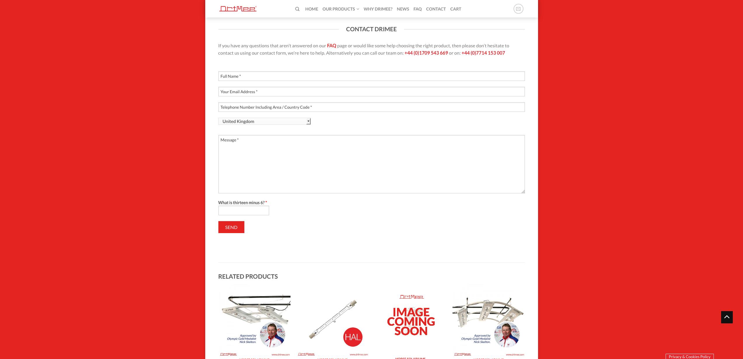IDEA UK Design and Marketing Drimee Equestrian Horse Equipment Website Design 11