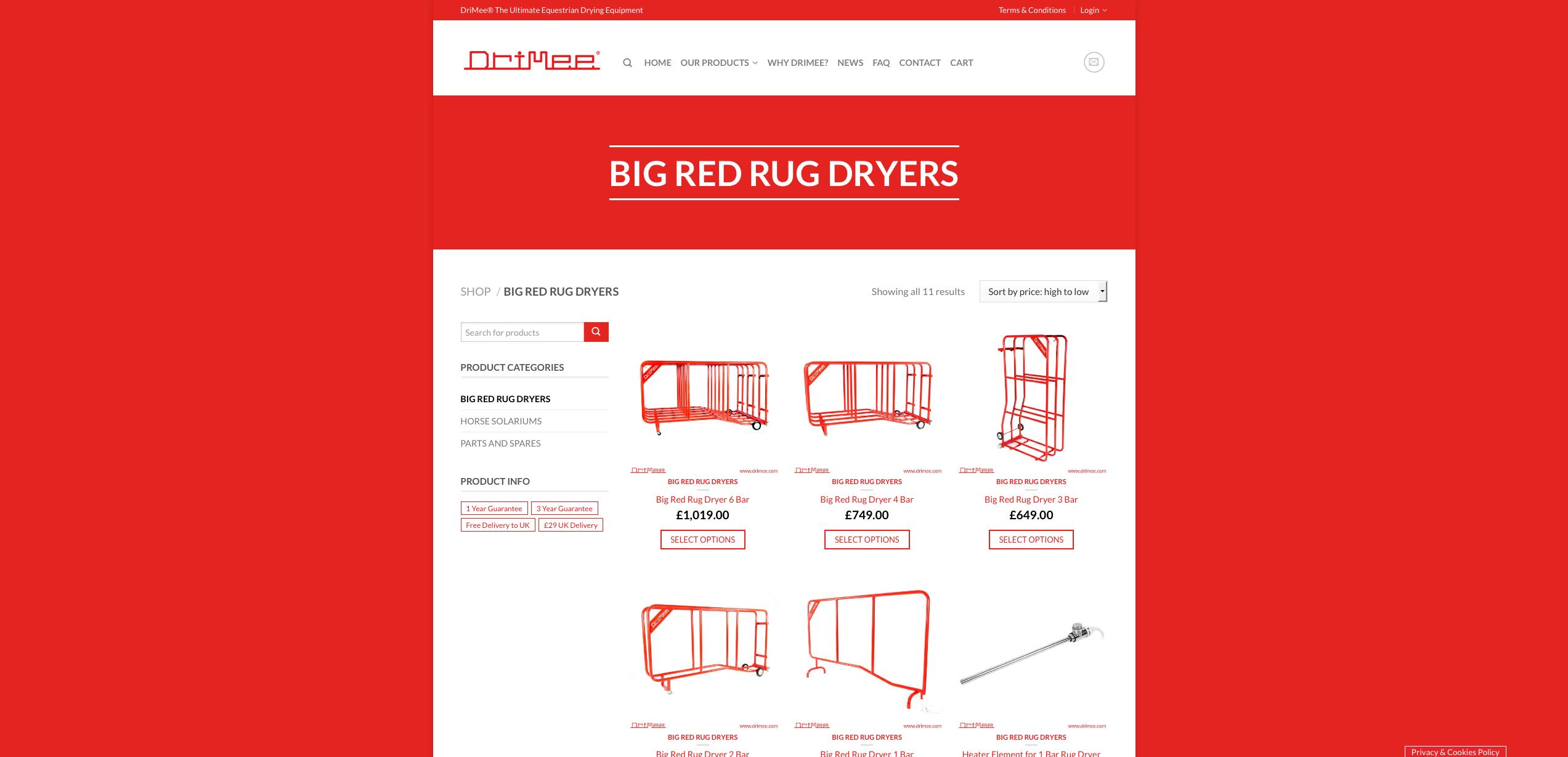 IDEA UK Design and Marketing Drimee Equestrian Horse Equipment Website Design 12