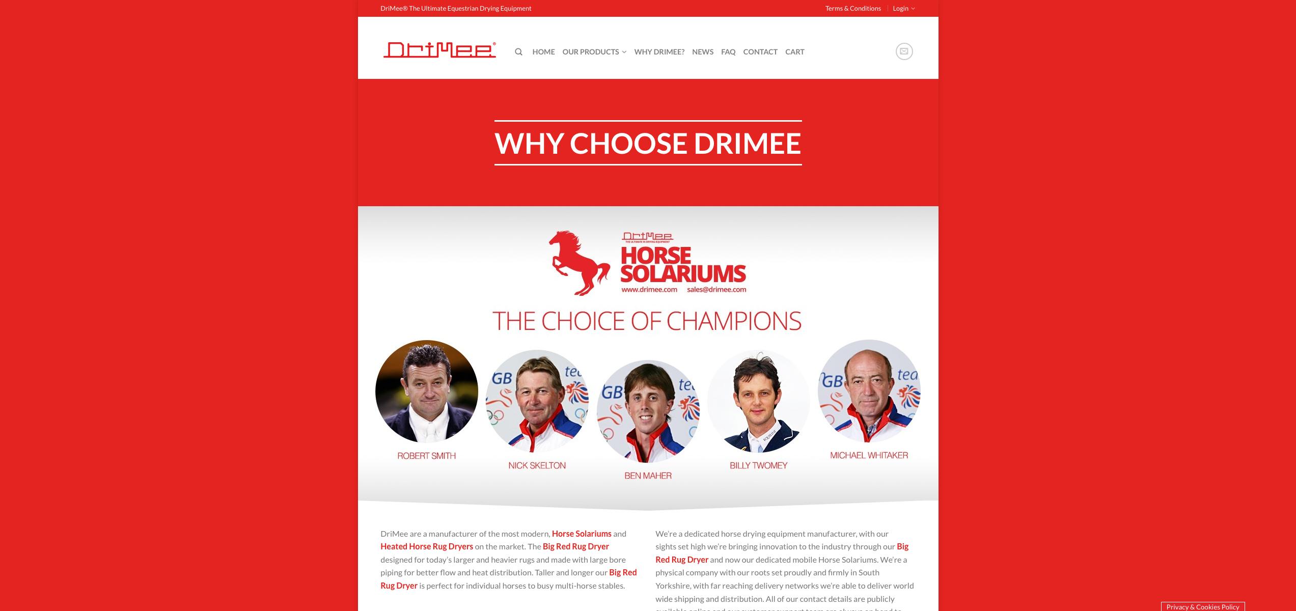 IDEA UK Design and Marketing Drimee Equestrian Horse Equipment Website Design 13