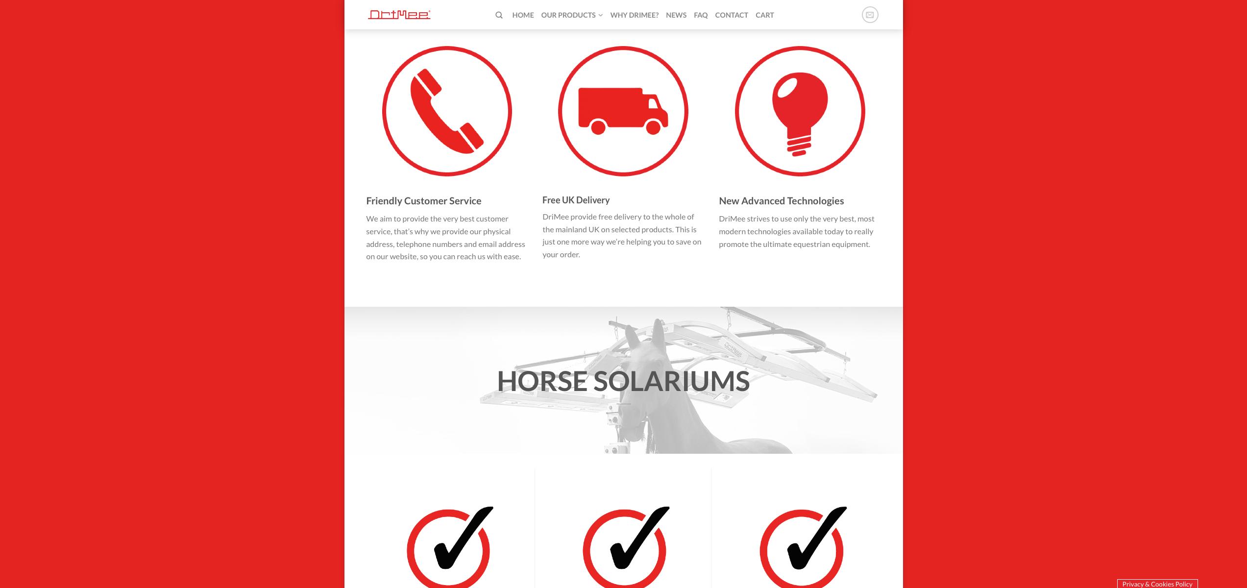IDEA UK Design and Marketing Drimee Equestrian Horse Equipment Website Design 14