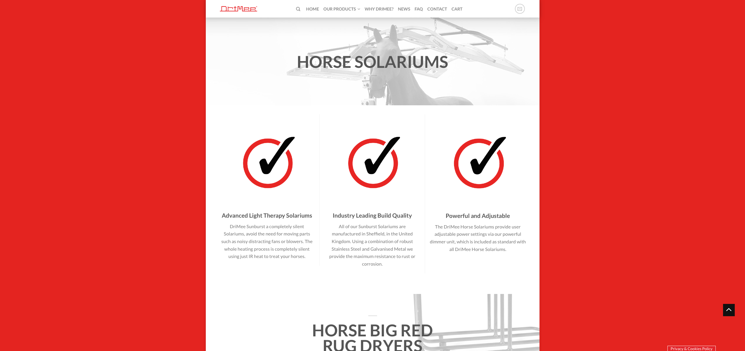 IDEA UK Design and Marketing Drimee Equestrian Horse Equipment Website Design 15