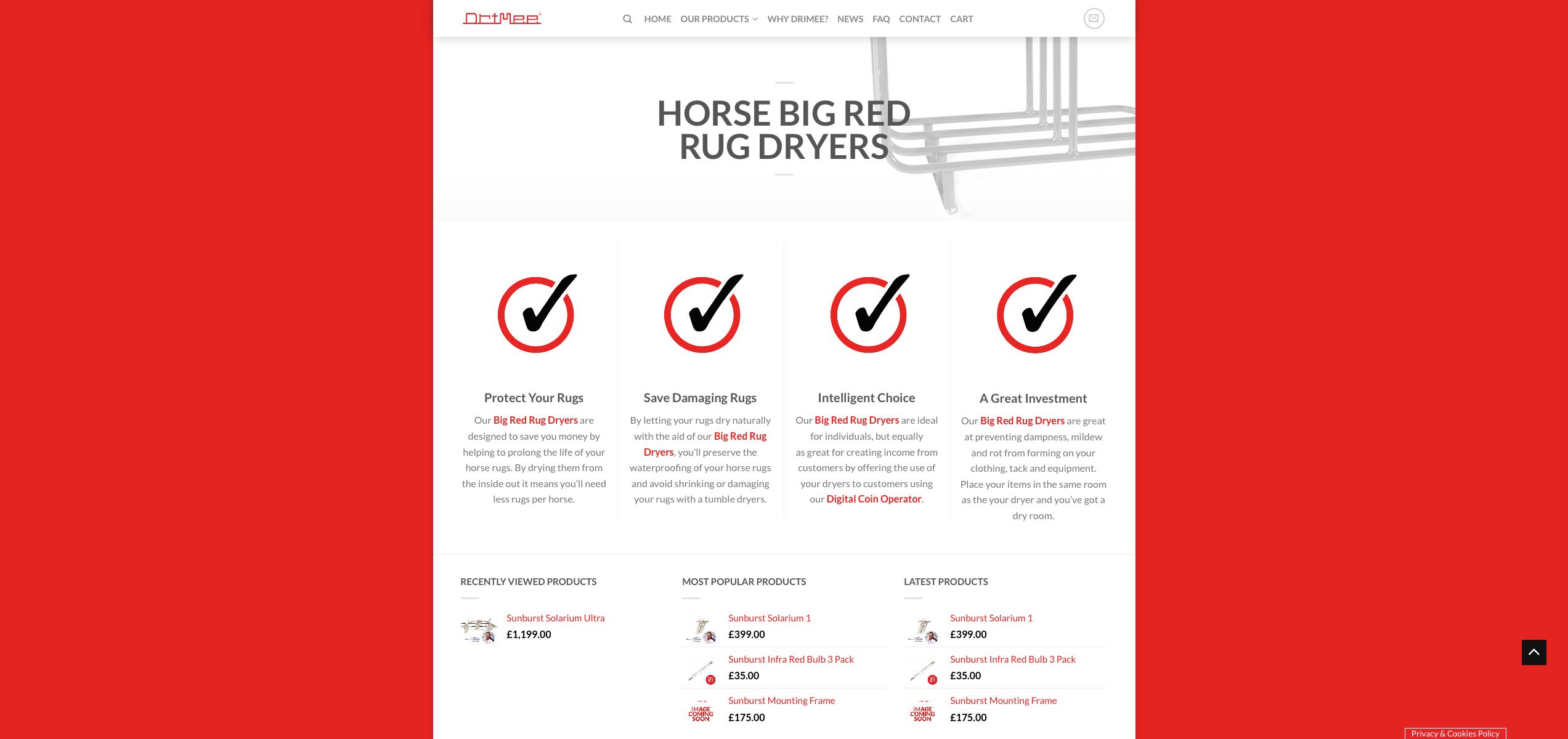 IDEA UK Design and Marketing Drimee Equestrian Horse Equipment Website Design 16