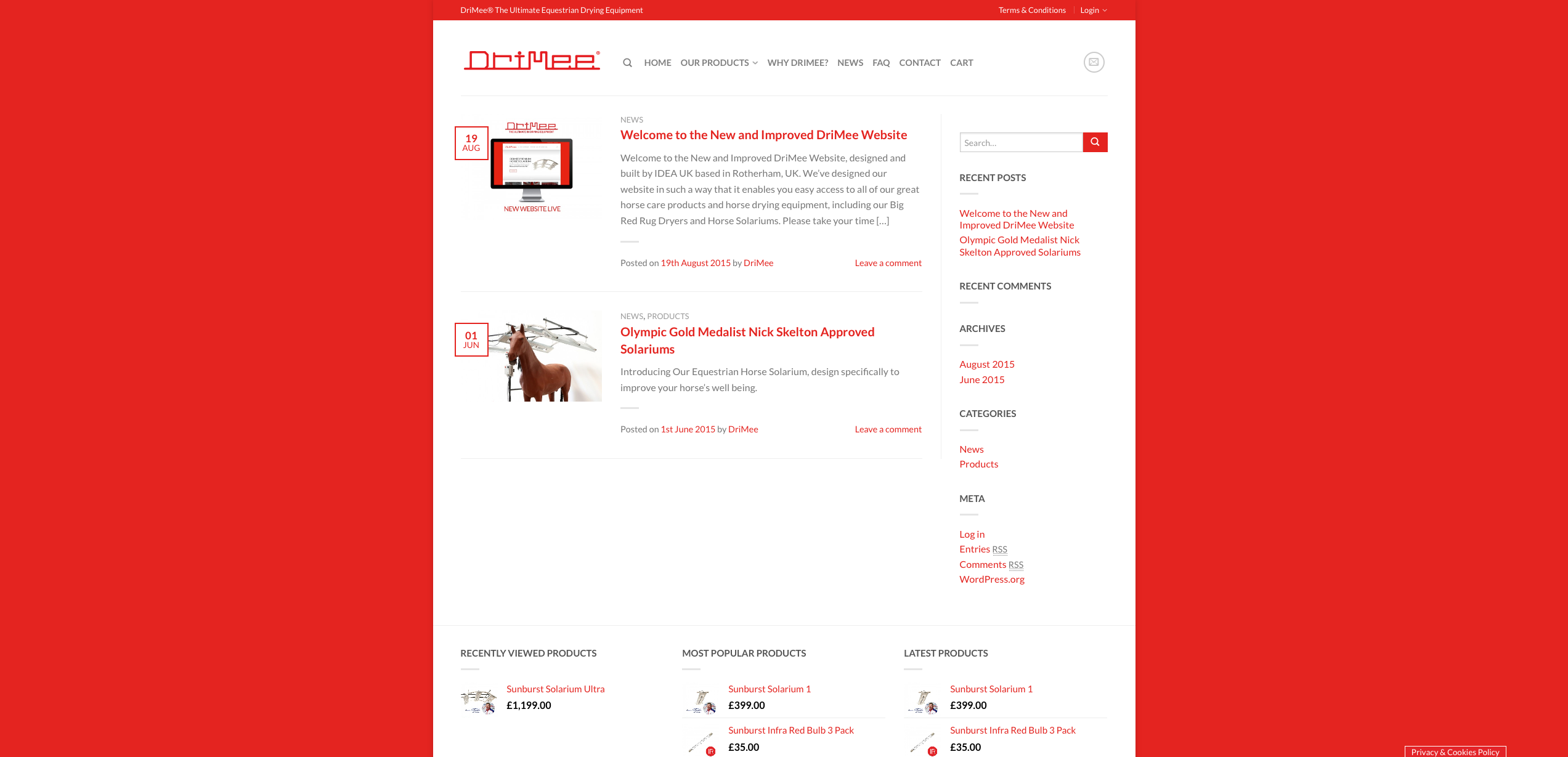 IDEA UK Design and Marketing Drimee Equestrian Horse Equipment Website Design 17