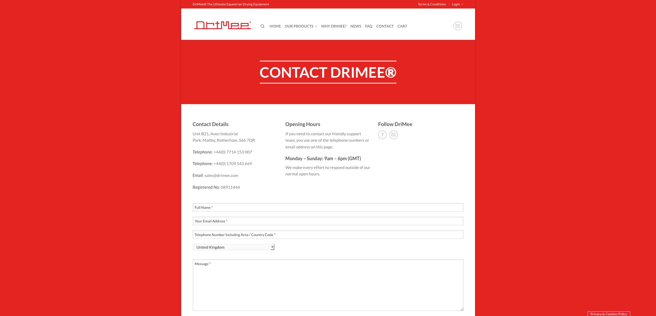 IDEA UK Design and Marketing Drimee Equestrian Horse Equipment Website Design 19