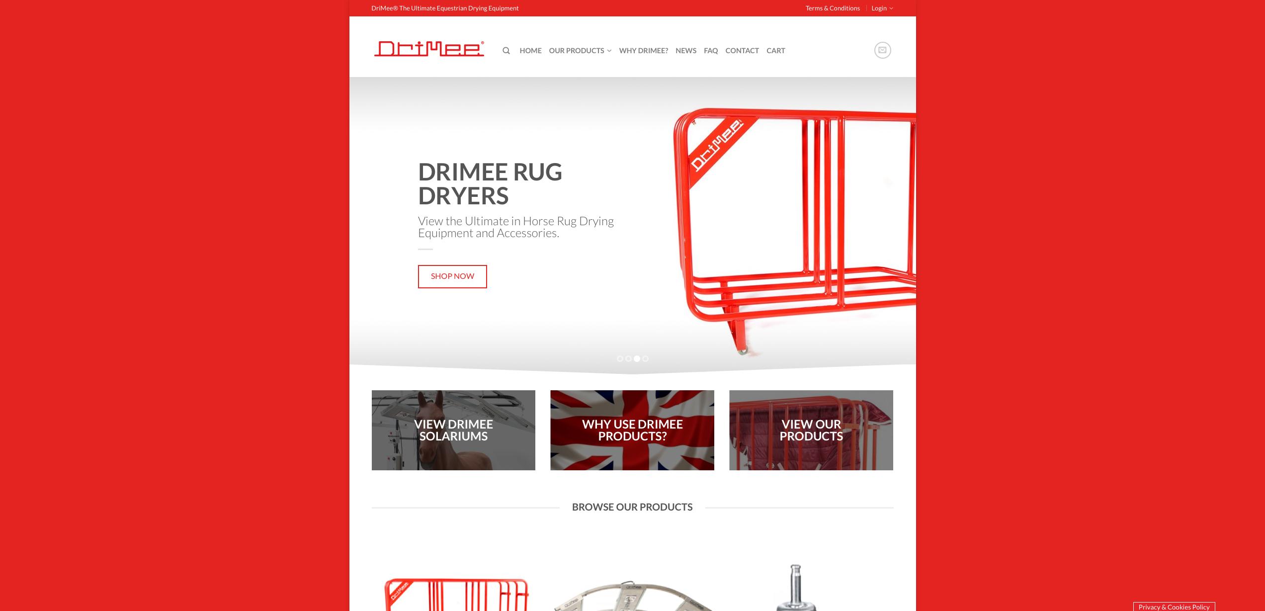 IDEA UK Design and Marketing Drimee Equestrian Horse Equipment Website Design 2