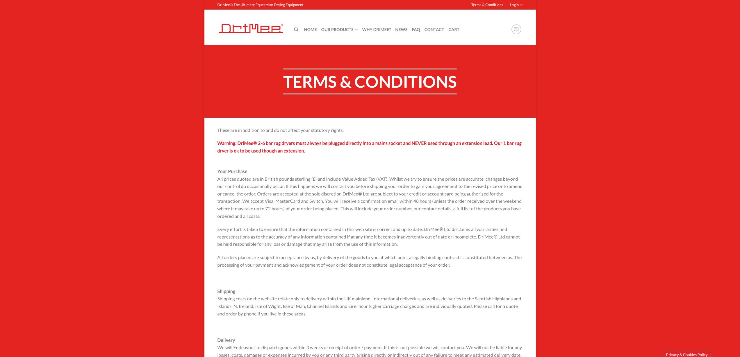IDEA UK Design and Marketing Drimee Equestrian Horse Equipment Website Design 22