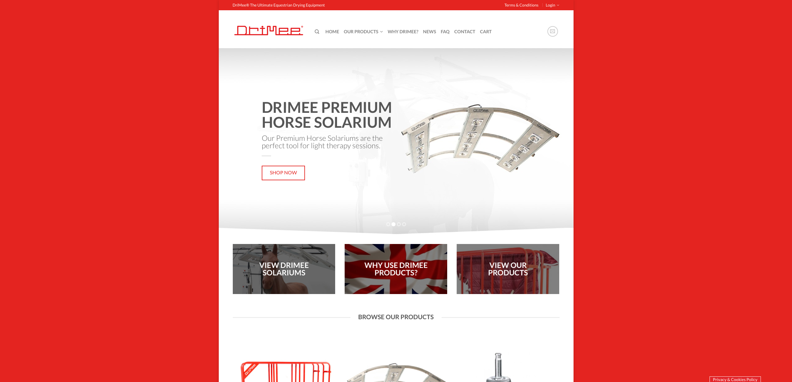 IDEA UK Design and Marketing Drimee Equestrian Horse Equipment Website Design 3