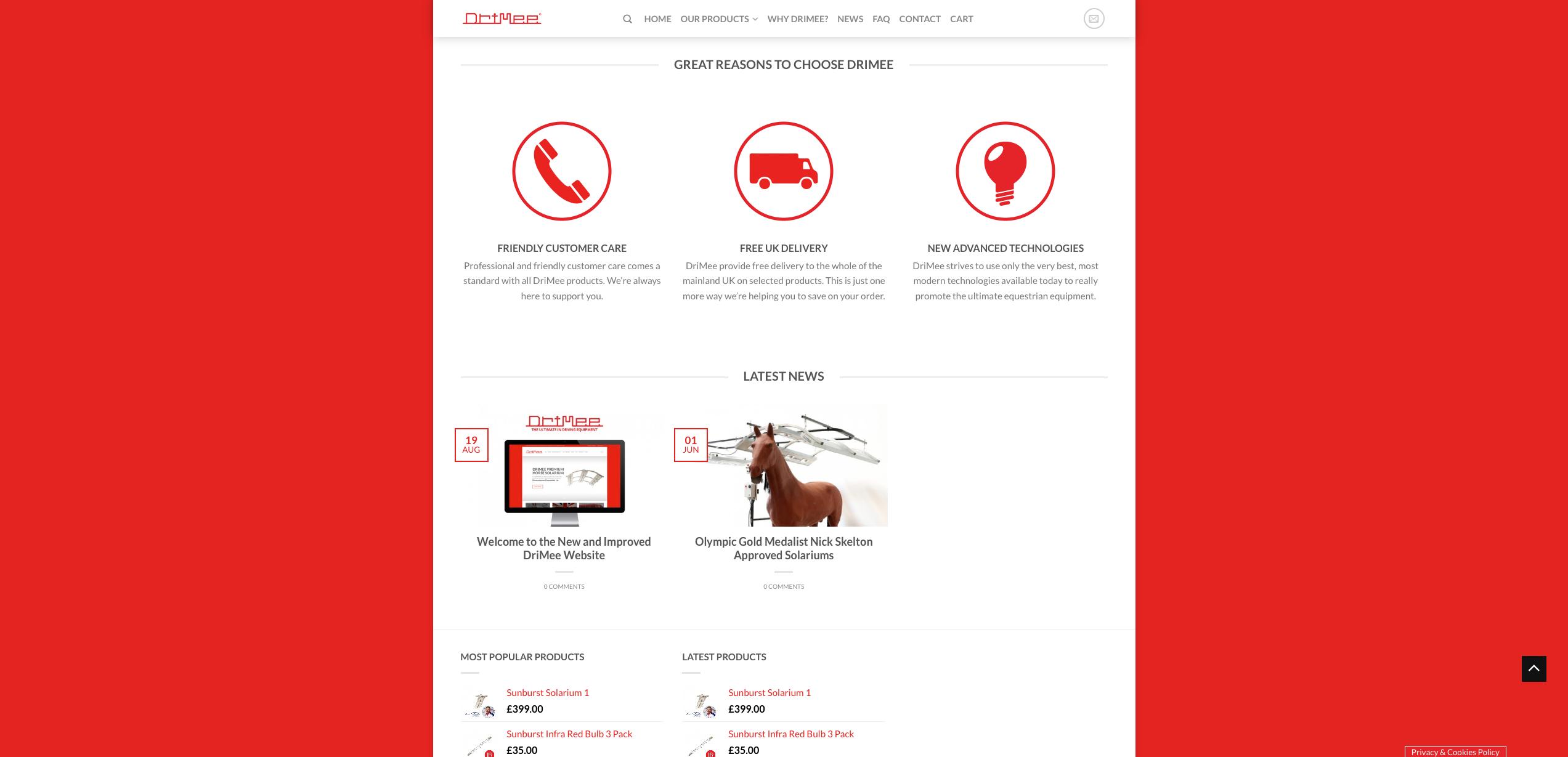 IDEA UK Design and Marketing Drimee Equestrian Horse Equipment Website Design 4