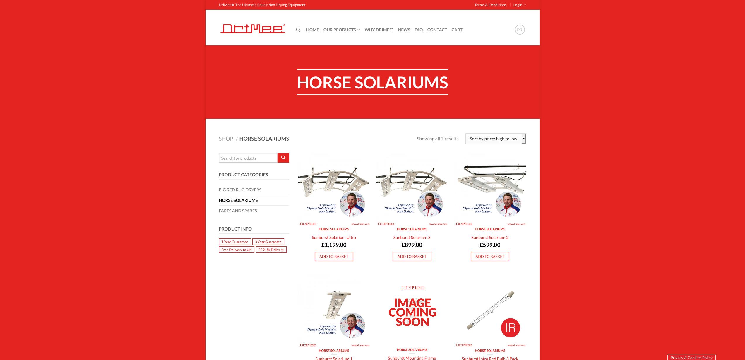 IDEA UK Design and Marketing Drimee Equestrian Horse Equipment Website Design 5