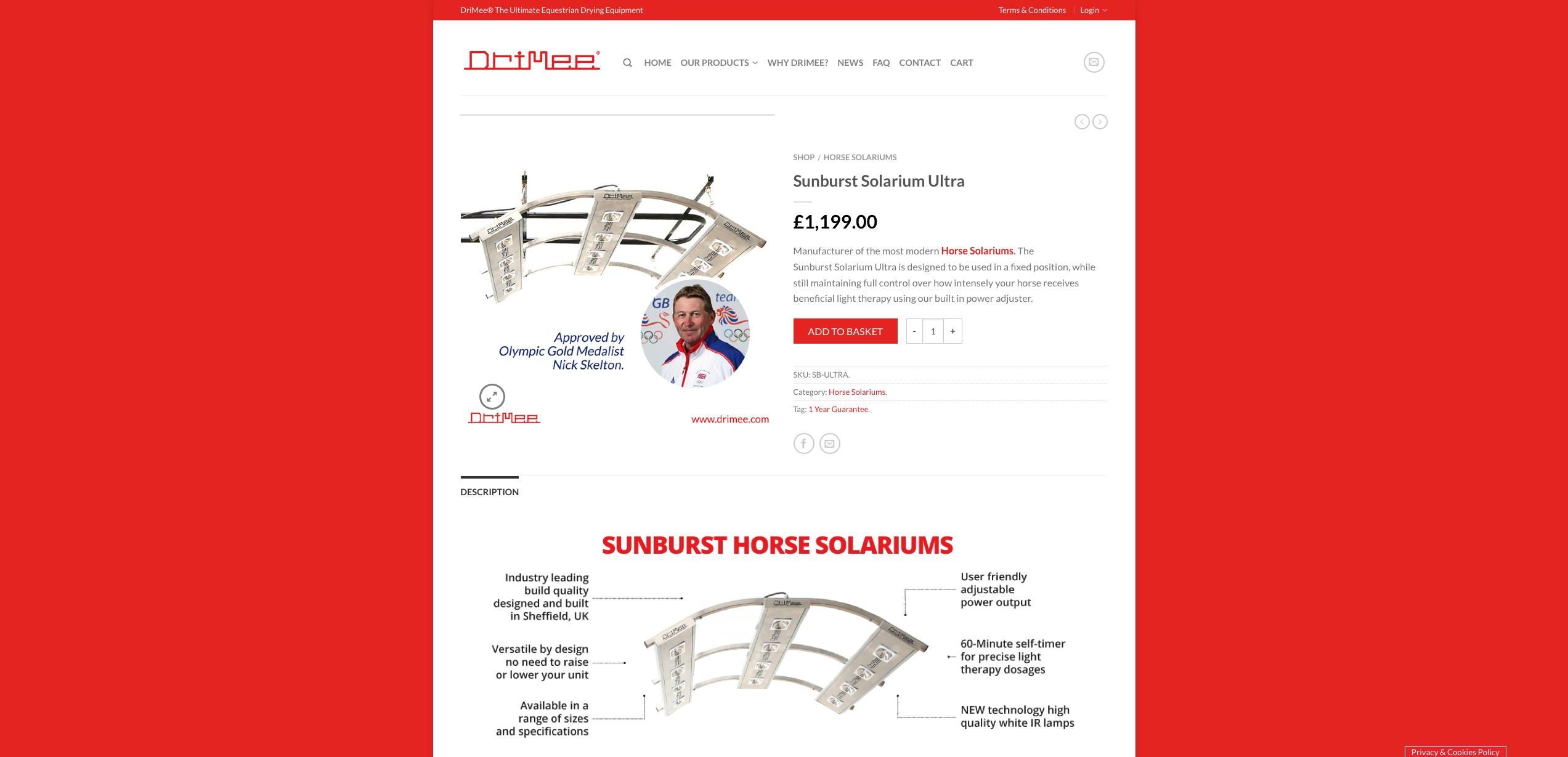 IDEA UK Design and Marketing Drimee Equestrian Horse Equipment Website Design 6