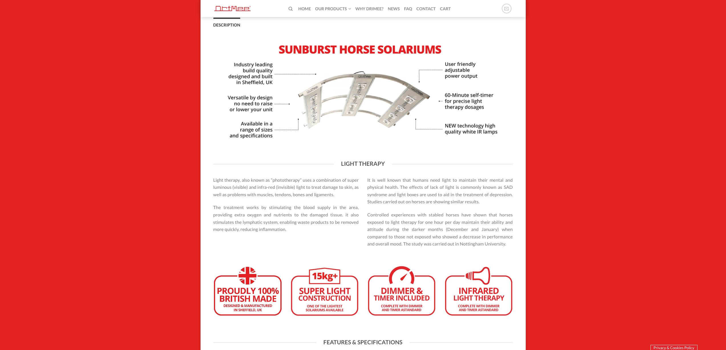 IDEA UK Design and Marketing Drimee Equestrian Horse Equipment Website Design 8