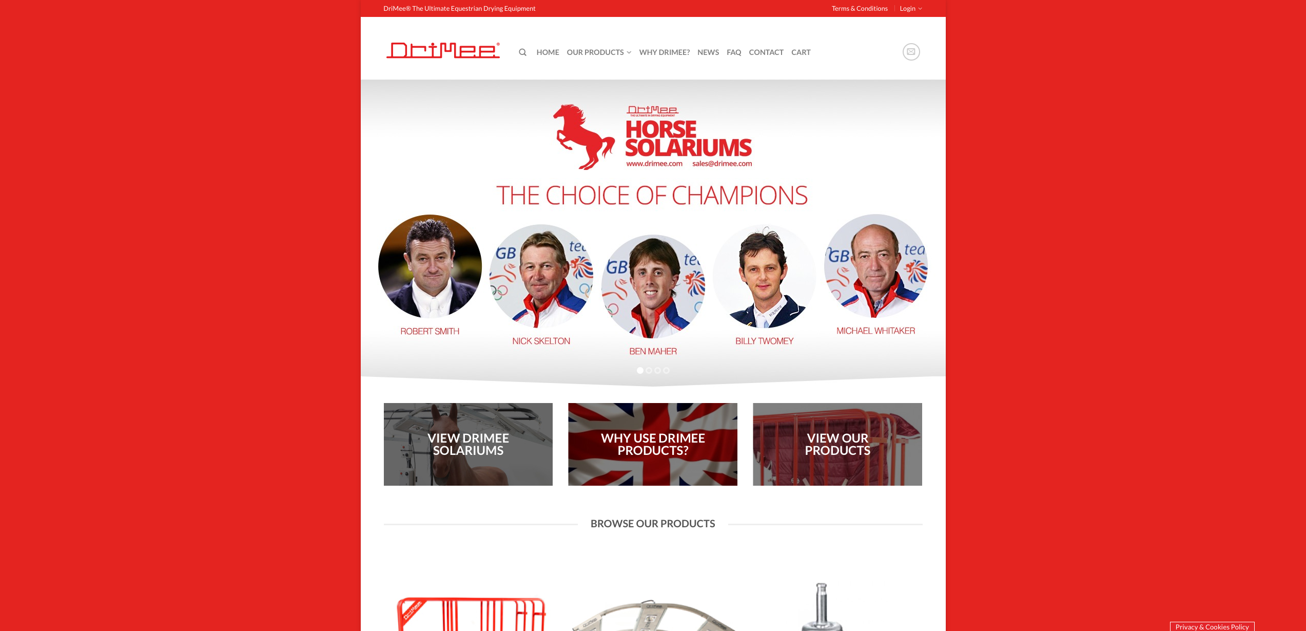 IDEA UK Design and Marketing Drimee Equestrian Horse Equipment Website Design