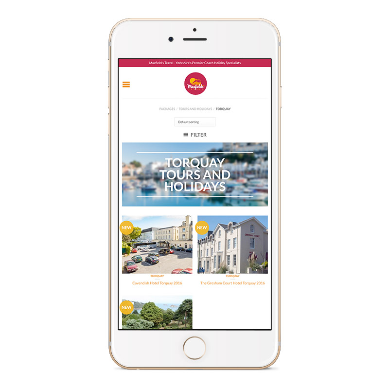maxfields travel iphone portrait website designer sheffield