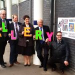 Unveiling of Gallery Town Rotherham Trainstation Sign