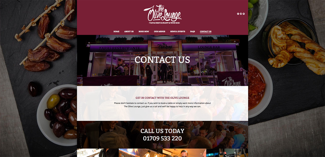 IDEA UK Design and Marketing The Olive Lounge Rotherham Website Designer Graphic Designer 15