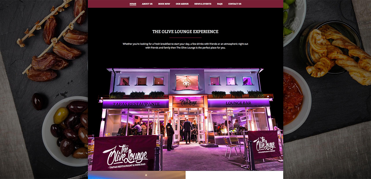 IDEA UK Design and Marketing The Olive Lounge Rotherham Website Designer Graphic Designer 4