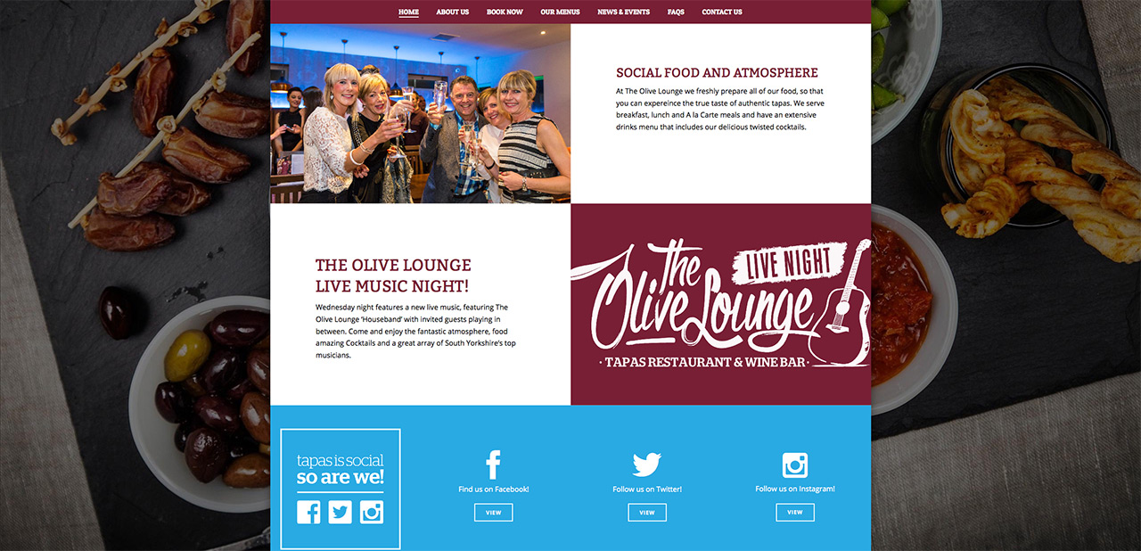 IDEA UK Design and Marketing The Olive Lounge Rotherham Website Designer Graphic Designer 5