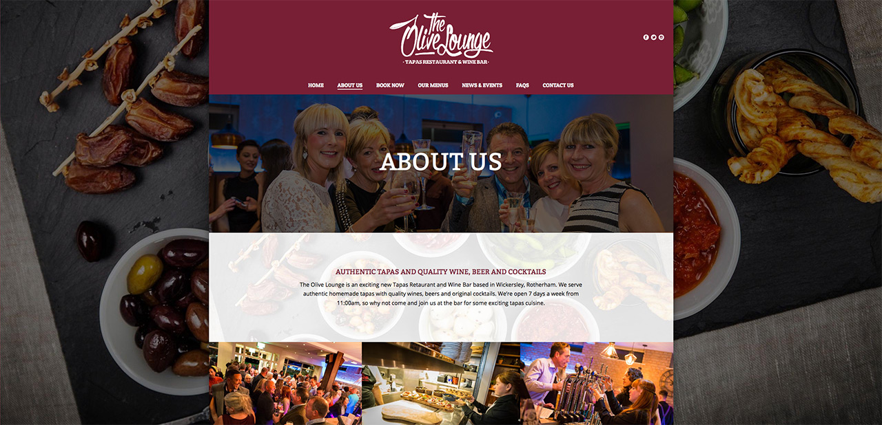 IDEA UK Design and Marketing The Olive Lounge Rotherham Website Designer Graphic Designer 6