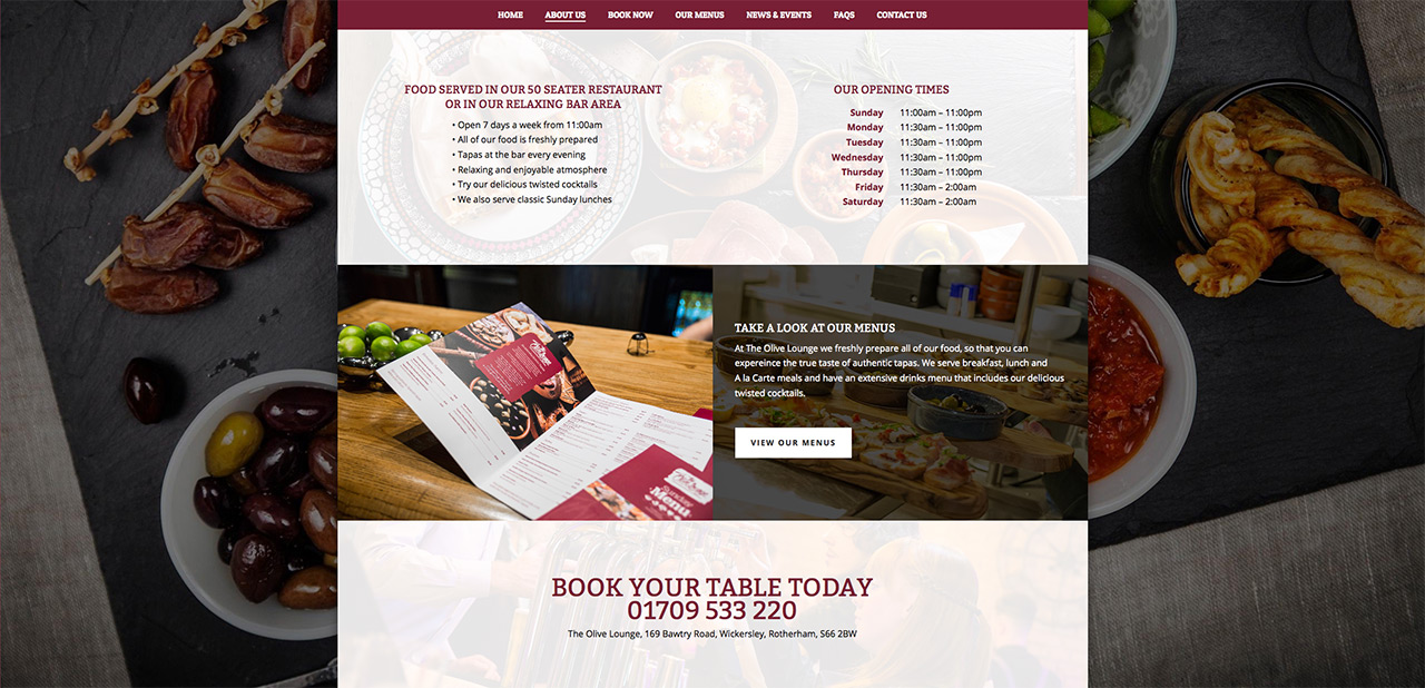 IDEA UK Design and Marketing The Olive Lounge Rotherham Website Designer Graphic Designer 7
