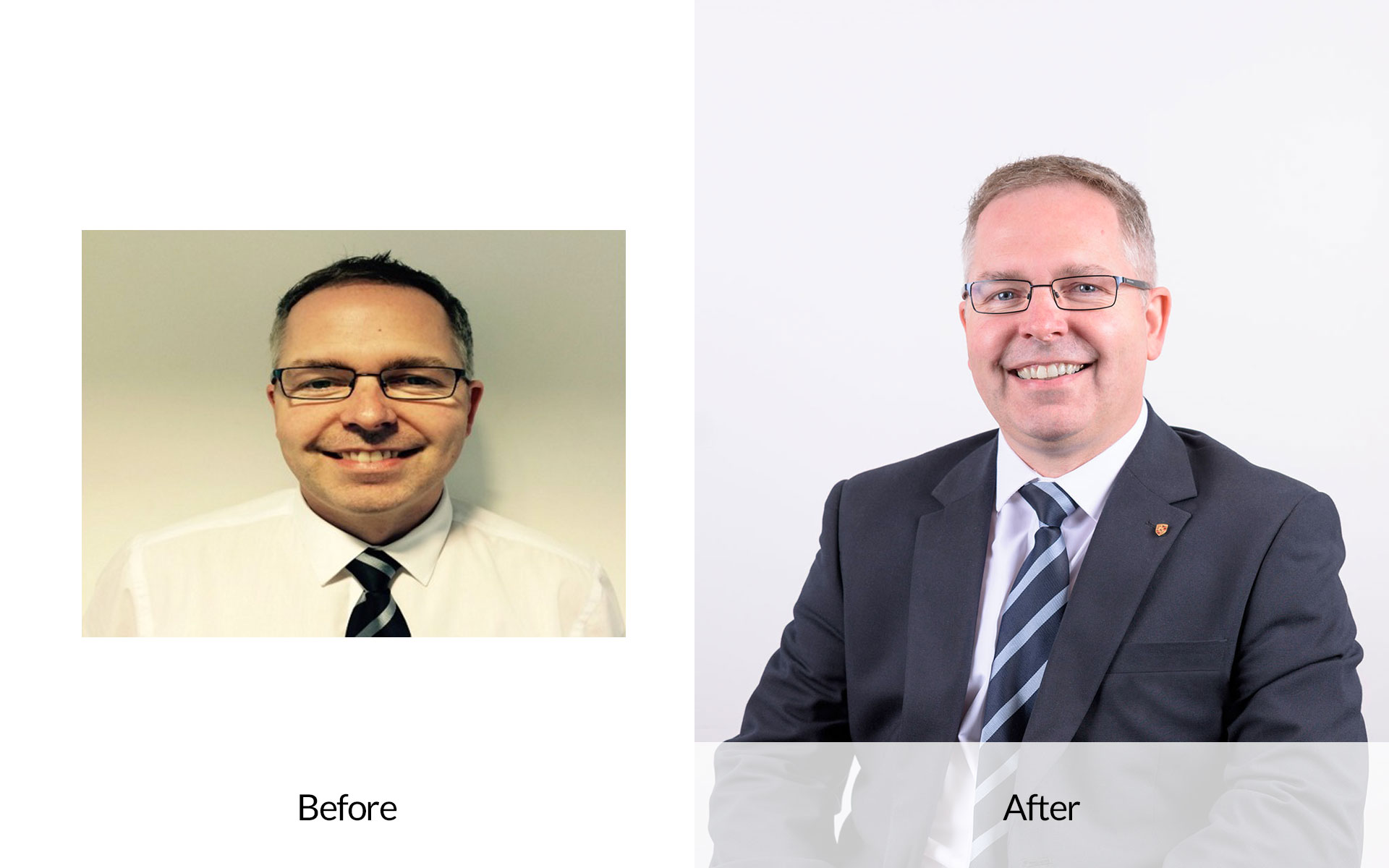 Before and After professional portrait photography sheffield rotherham doncaster chesterfield
