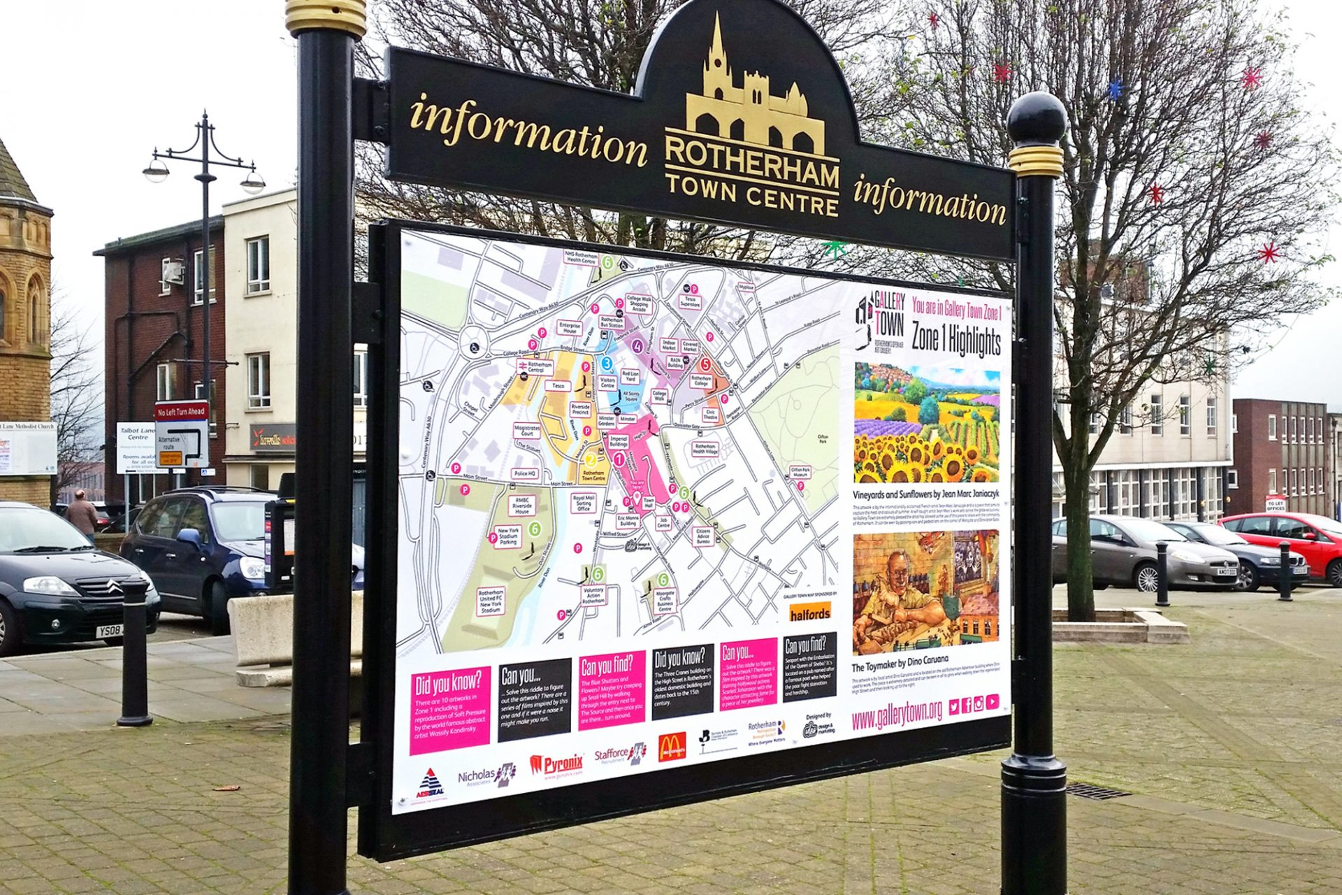 IDEA UK Design Gallery Town Artwork Map Boards Town Hall Rotherham