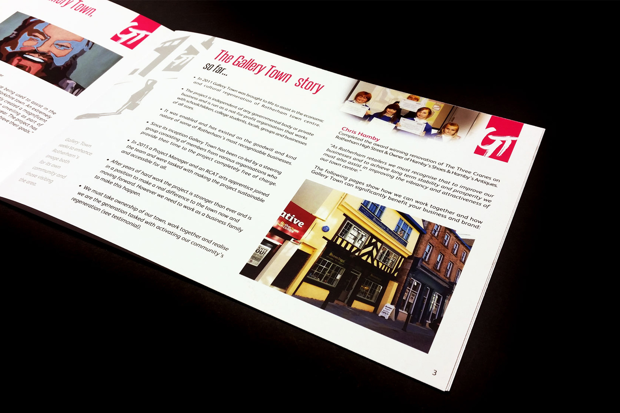 IDEA UK Design Gallery Town Rotherham Brochure Right
