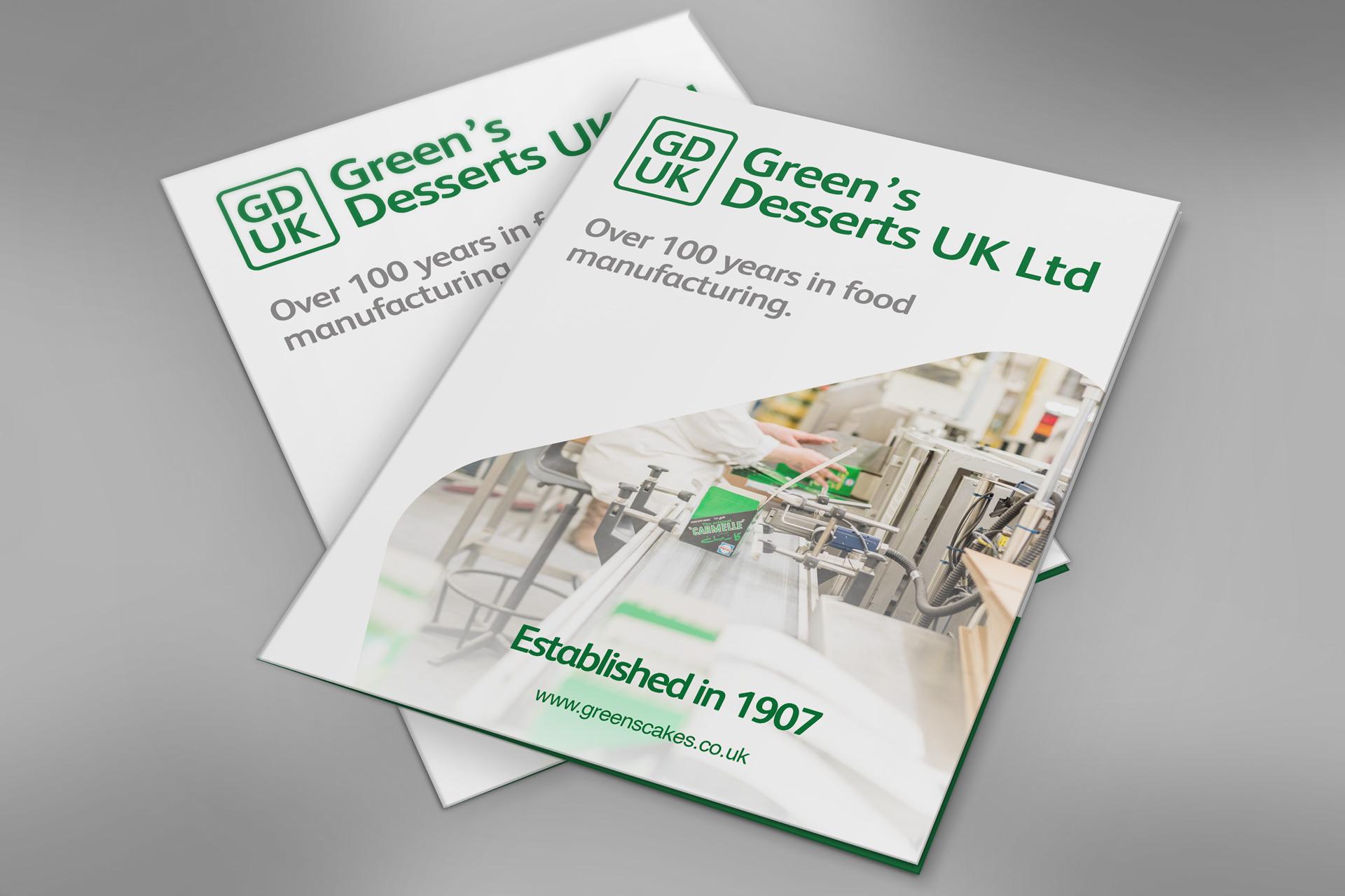 Greens Desserts folder design front