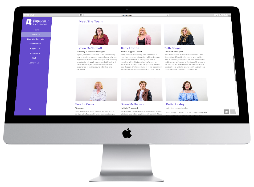 beacon south yorkshire website design imac