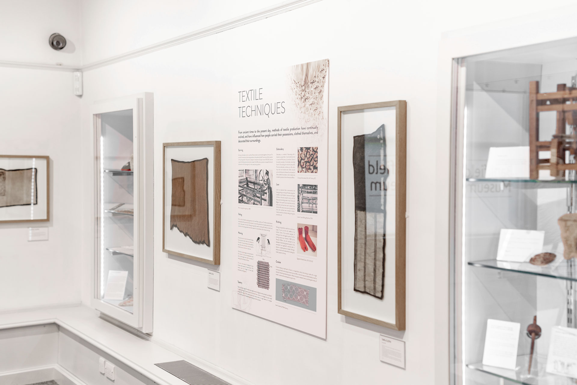 The Fashion Gallery Panel Display Design Bankfield Museum Halifax Calderdale Council IDEA Design Rotherham Sheffield
